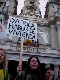 Manifestación por la carestía de la vivienda